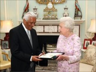 Lord Patel and Queen Elizabeth II