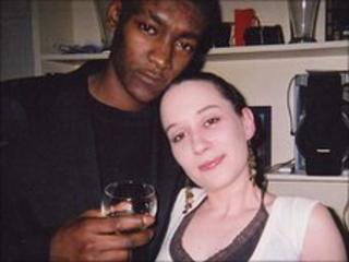 Murder victim Jaabe Roberts with girlfriend Karen Fyfe