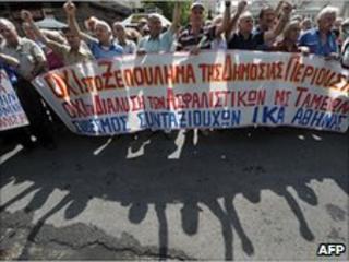 Greek demonstrators