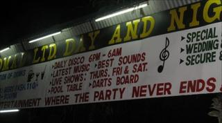 Nightclub sign