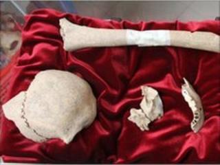 Remains of Italian painter Caravaggio