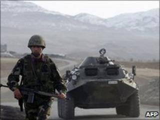 Turkish troops on Iraq border (file image)