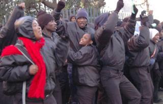 Strikers at Ellis Park in Johannesburg