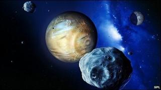 Pluto, artistic drawing