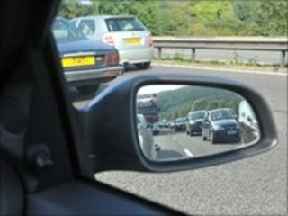 Traffic jam on the M6