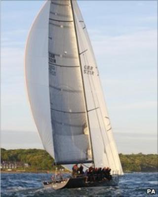 Tony Hayward's yacht at the Isle of Wight boat race