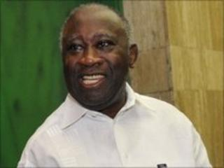 President Laurent Gbagbo (file photo 24 May 2010)