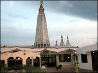 The Hindu temple in Ghana