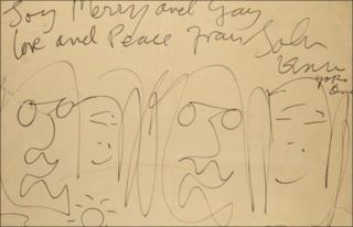 Cartoon by John Lennon, 1969