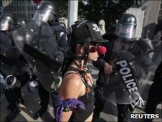 Protest ahead of Toronto summit, 25 June