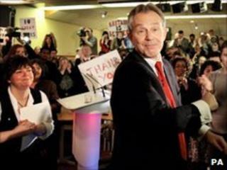 Tony Blair at Timdon Labour Club