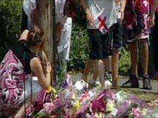 Tributes left for victim