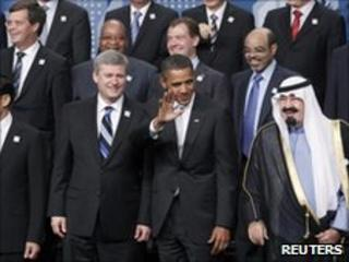G20 leaders at Toronto, Canada summit - 27 June 2010