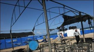 Damage at UN summer camp in Gaza