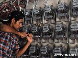 Technician at Karachi electricity sub-station