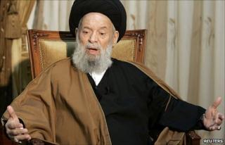 Grand Ayatollah Mohammed Hussein Fadlallah (file pic)