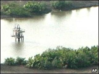 Oil well head near Port Harcourt, Nigeria