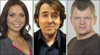 Christine Bleakley, Jonathan Ross and Adrian Chiles