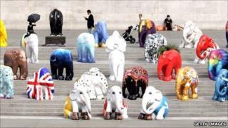 Model elephants in London