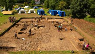 The excavation at Priory Field, Caerleon