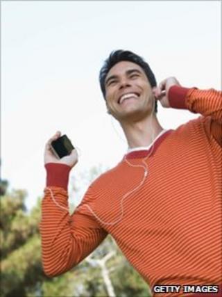Man listening to music (file image)
