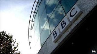 BBC logo at Television Centre