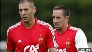 Karim Benzema and Franck Ribery in 2009