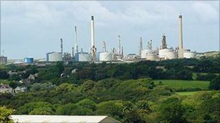 The Murco Oil Refinery in Milford Haven