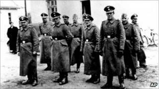Nazi guards at Belzec camp in occupied Poland in 1942. Image: Yad Vashem Photo Archive in Jerusalem