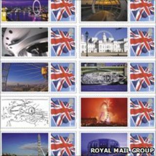 London Eye stamp sheet