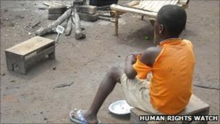 Ten year old abductee from northern DR Congo