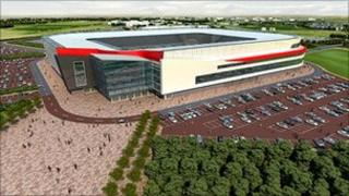 Impression of new stadium