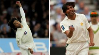 Mohammad Amir (left) and Mohammad Asif