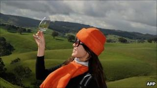 Wine-tasting in Australia - file pic