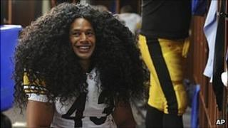 Troy Polamalu in a hand-out picture provided by Procter and Gamble