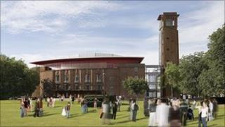 Artist's impression of the Royal Shakespeare Theatre