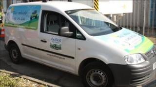 "One of the ""poo-powered"" council vans"