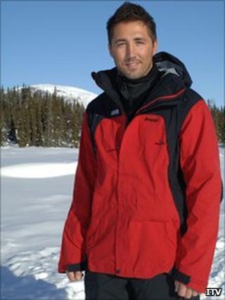 Gavin Henson on location in Norway