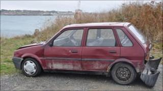 Abandoned car in Guernsey
