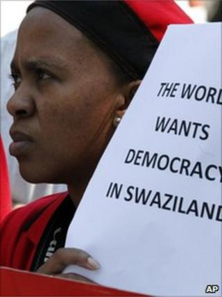 campaigner for democracy in Swaziland