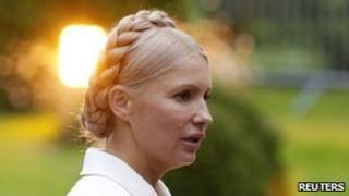 Yulia Tymoshenko on a visit to the European People Party meeting in Meise, Belgium, 15 September