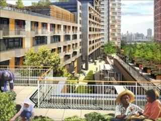 Artists impression of Via Verde, courtesy of Phipps Houses, Jonathan Rose Companies, Dattner Architects, and Grimshaw