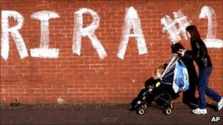 Real IRA graffiti in west Belfast