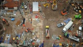 Crossrail construction site in central London