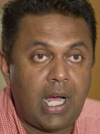 Sri Lanka opposition MP, Mangala Samaraweera