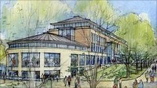 Artist's impression of the new council offices on Charles Street - view from South Street. Courtesy of West Dorset District Council.