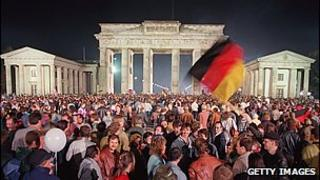 Germans celebrate reunification 3 October 1990