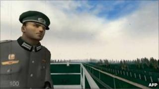 Screen grab from game 1378 showing border guard