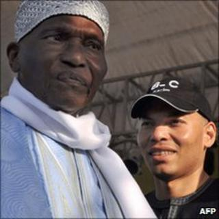 Abdoulaye Wade (left) and his son Karim (right)