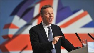 Mr Gove at the Conservative Party conference